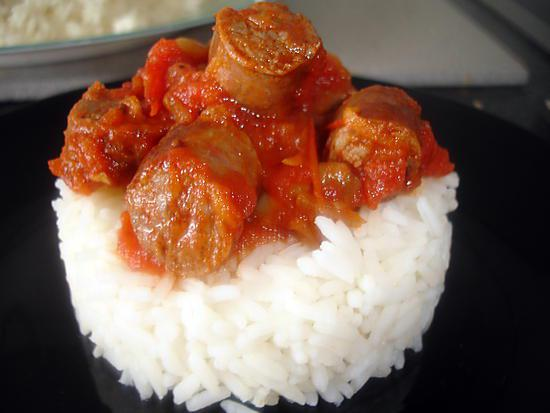 recette de merguez sauce tomate champignons. Black Bedroom Furniture Sets. Home Design Ideas