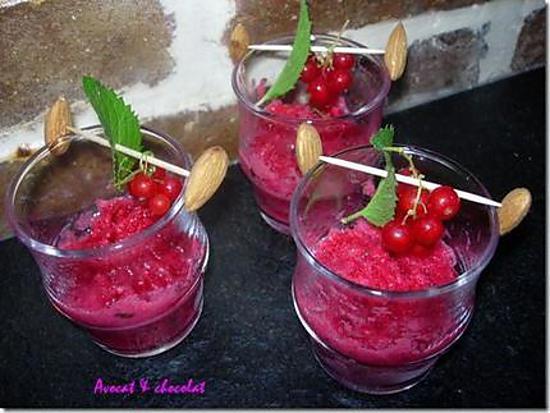 grappes de groseilles givrees
