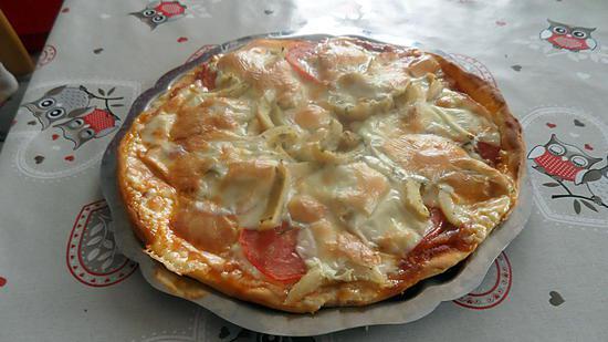 recette de pizza fond d 39 artichaut mozzarella. Black Bedroom Furniture Sets. Home Design Ideas
