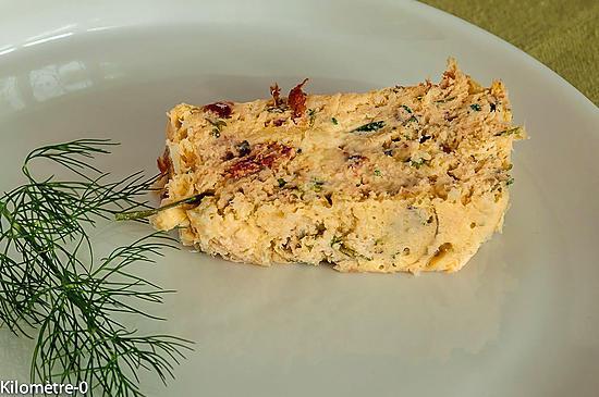 recette Terrine au merlu, tomates confites et fines herbes