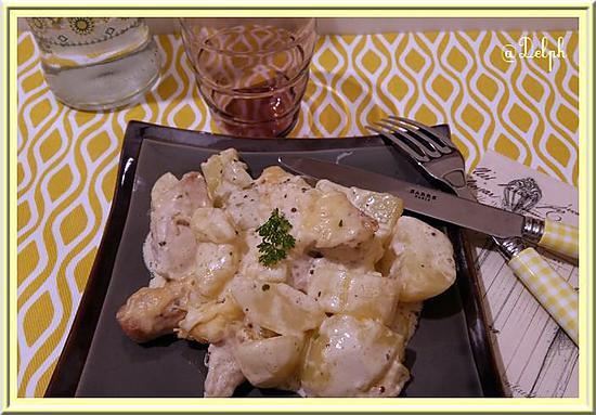 recette Gratin de pommes de terre et filet de dinde