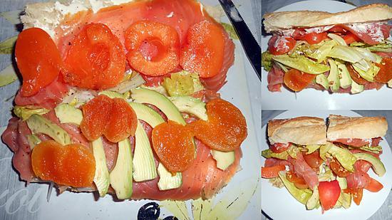 recette de sandwich au saumon fume par italmo. Black Bedroom Furniture Sets. Home Design Ideas
