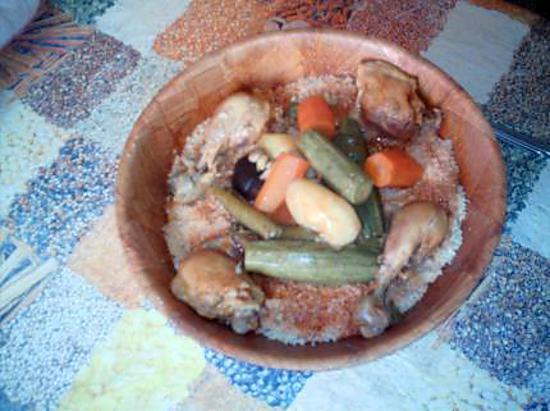 recette couscous algerien au legumes et au poulet