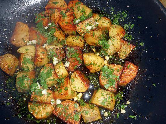 recette Cubes de pommes de terre à la persillade