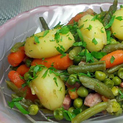recette de petit pois carottes pommes de terre fa on jardini re. Black Bedroom Furniture Sets. Home Design Ideas