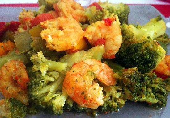 Recette de crevettes brocolis poivrons au cookeo - Recettes rapides 10 a 15 minutes maxi ...