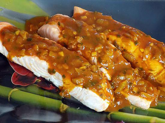 recette Pavés de saumon sauce créole (compatible dukan)