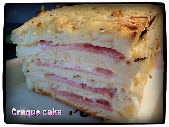 recette Croque cake moelleux