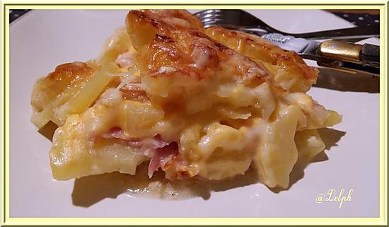 recette Gratin de Pommes de Terre à la Pancetta et Cheddar