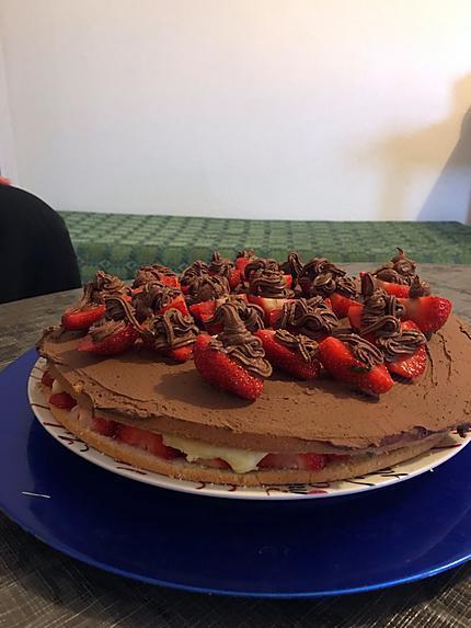 recette Gâteau aux fraises de Tonton
