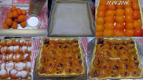 Recette de tarte aux abricots frais nature - Recette de tarte aux abricots ...
