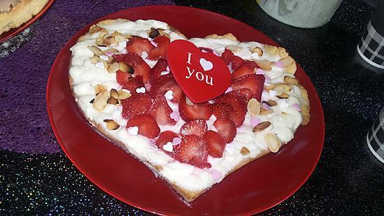 recette de tarte coeur au mascarpone vanill et aux fraises. Black Bedroom Furniture Sets. Home Design Ideas