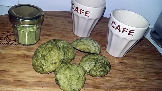 recette Cookies au thé matcha