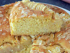 recette Gâteau pommes amandes
