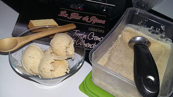 recette Glace sans sorbetière au Turron