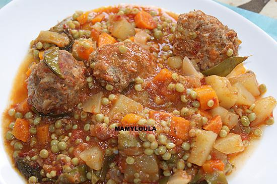recette Tajine de Boulettes aux petits pois et épices