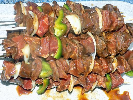 recette Brochettes sauce barbecue (compatible dukan)