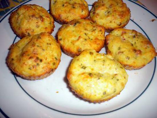 recette de muffins aux chou fleurs lardons et comt. Black Bedroom Furniture Sets. Home Design Ideas