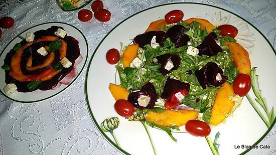 recette Salade de betterave, mangue et Salakis