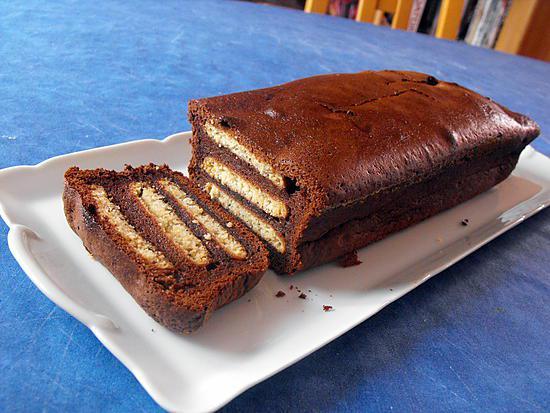 recette GATEAU AU CHOCOLAT ET PETITS BEURRE