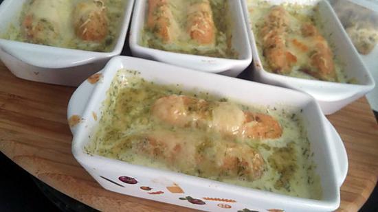 recette Quenelles de saumon sauce au citron gratiné