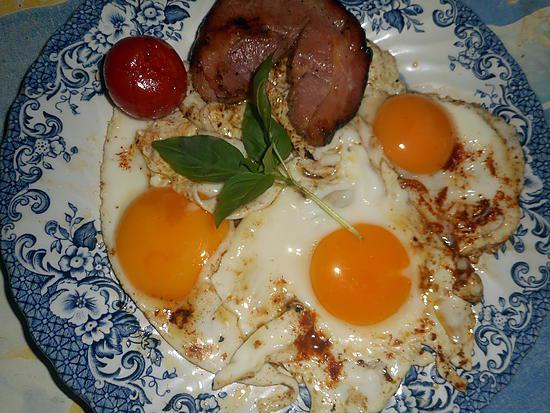 recette Oeufs au plat à la pancetta