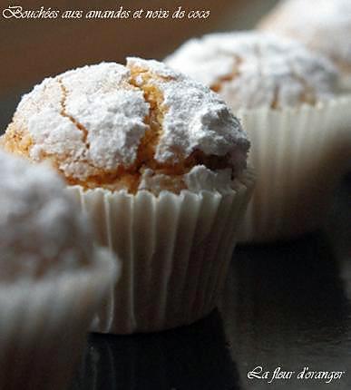 recette Bouchées aux amandes et noix de coco