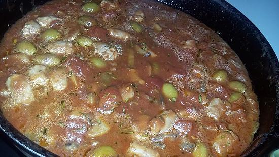 recette Sauce tomate aux saucisses et aux olives