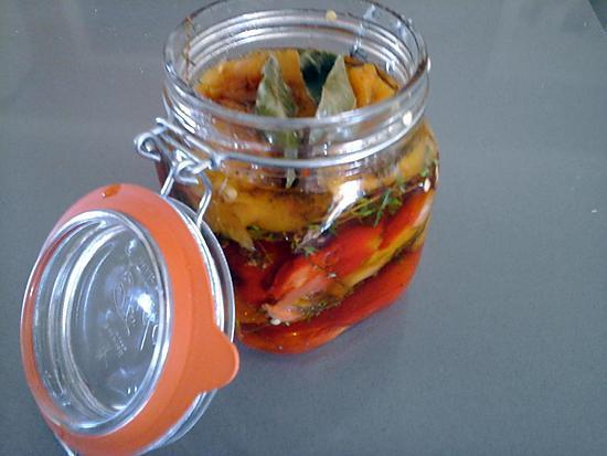 recette Poivrons marinés à l'huile d'olive