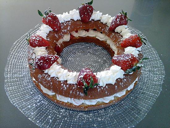 recette Couronne fraises chantilly