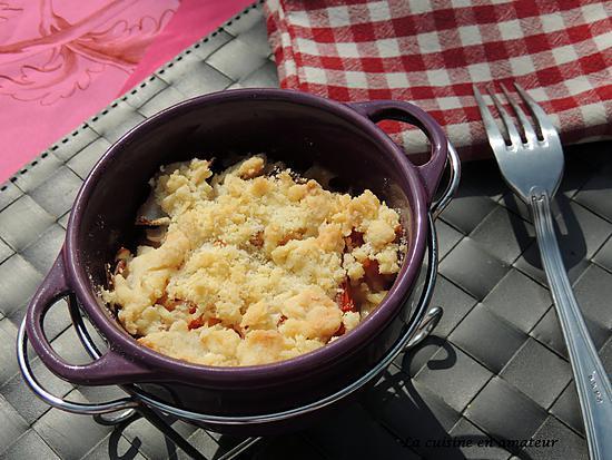 recette Crumble de tomates et bacon