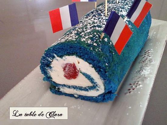 """recette Mon roulé """"Allez les bleus"""""""