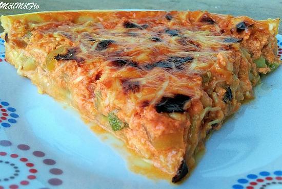 recette de tarte cr meuse la tomate poivron et courgette. Black Bedroom Furniture Sets. Home Design Ideas