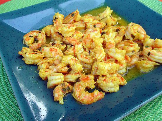 recette Crevettes marinées au curry