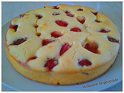 recette Gâteau aux fraises