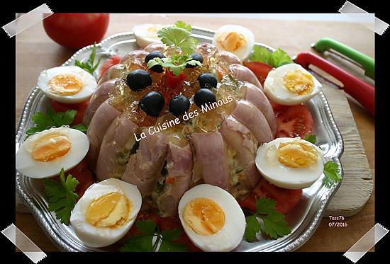 Recette de turban de mac doine au jambon for Decoration a l assiette