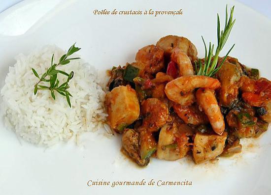 recette Poêlée de crustacés à la provençale
