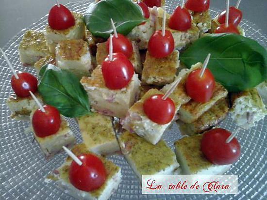 recette QUICHE SANS PÂTE BASILIC LARDONS