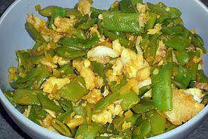 recette Poêlée de haricots plats et colin (compatible dukan)