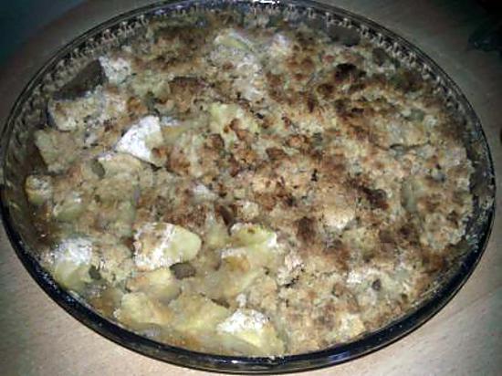 recette crumble au pomme