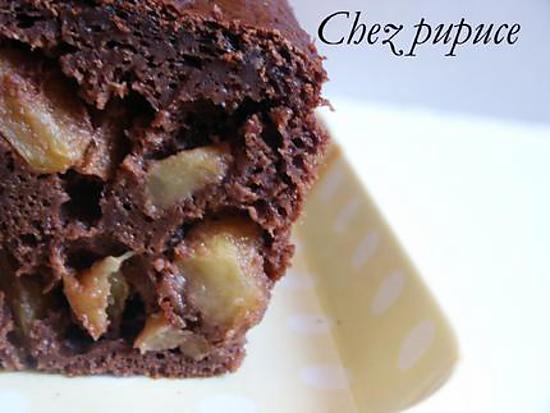 recette de cake au chocolat caramel pommes. Black Bedroom Furniture Sets. Home Design Ideas