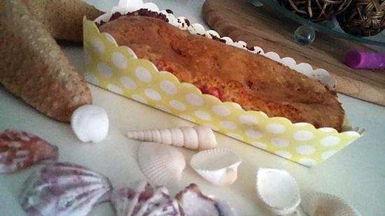 recette Cake au lait concentré sucré et aux pralines roses