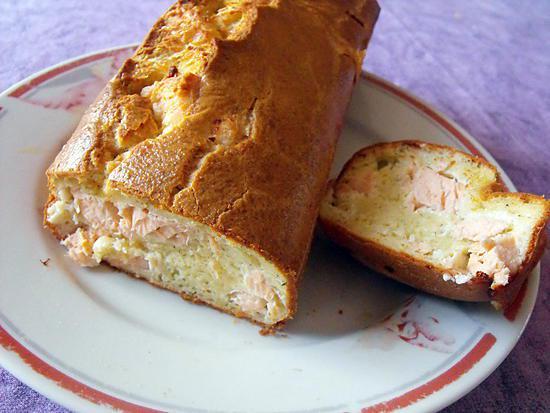 recette CAKE AU SAUMON ET A L'ANETH