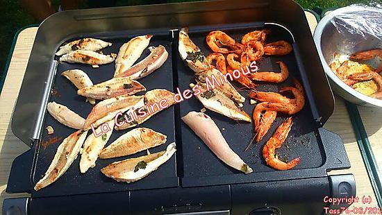recette Filets de Rouget mariné à la Plancha
