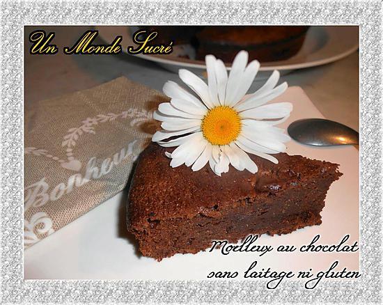 recette Moelleux au chocolat sans laitage ni gluten
