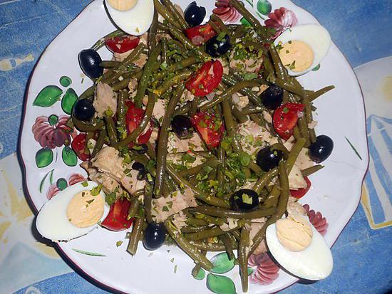 recette de salade d haricots vert au thon par jeanmerode. Black Bedroom Furniture Sets. Home Design Ideas