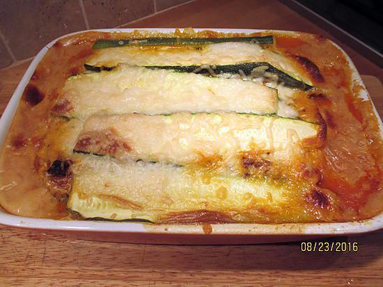 recette de gratin courgettes inspiration lasagnes sans gluten. Black Bedroom Furniture Sets. Home Design Ideas