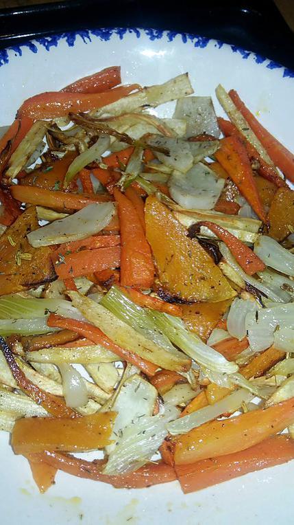 recette Frites légères de légumes de saison