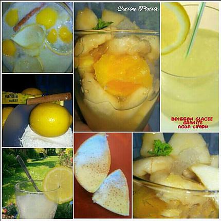 recette de boisson glac e granit citron agua limon. Black Bedroom Furniture Sets. Home Design Ideas