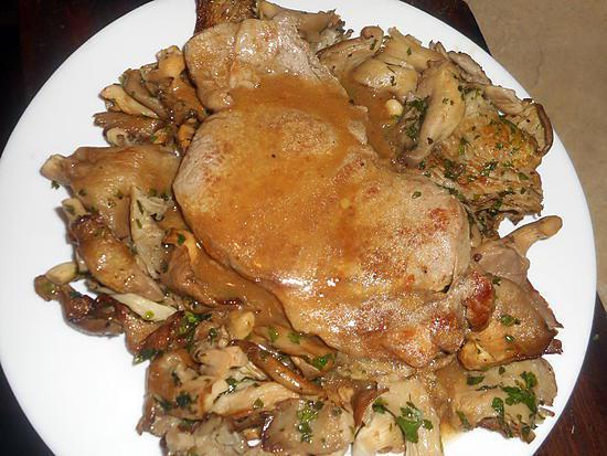recette Cote de veau aux pleurotes